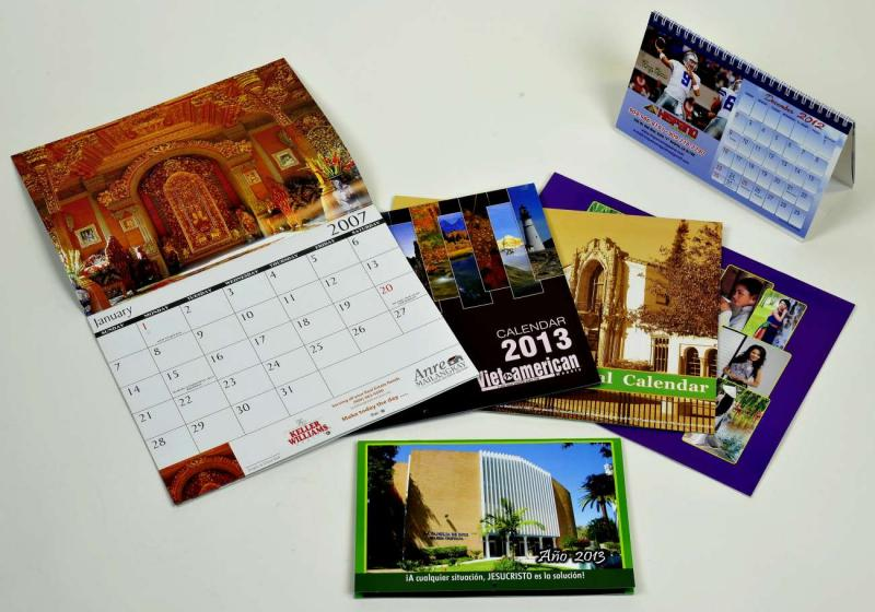Wall/Booklet and Tent Calendars